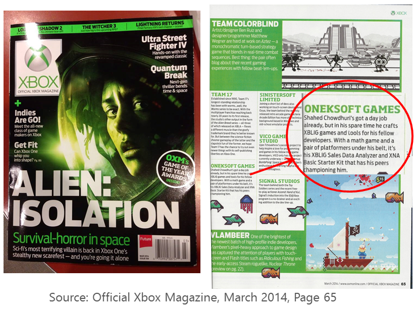 Source: Official Xbox Magazine, March 2014, Page 65